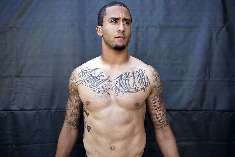 Colin Kaepernick's height, weight and body measurements