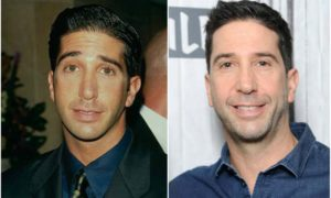 David Schwimmer's eyes and hair color