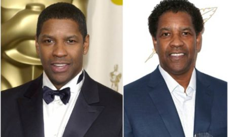 Denzel Washington's eyes and hair color