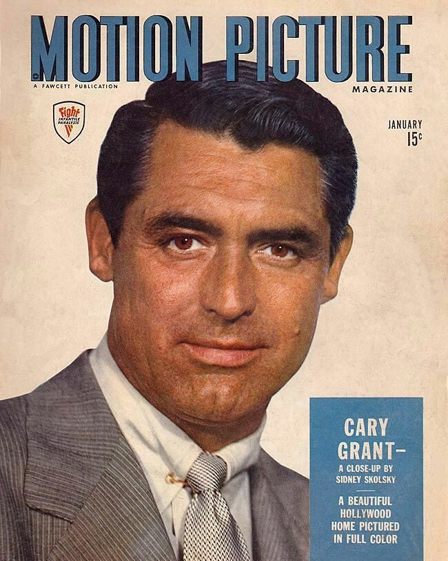Cary Grant's eyes and hair color