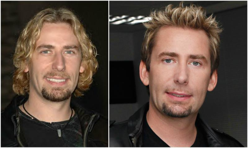 Chad Kroeger's eyes and hair color