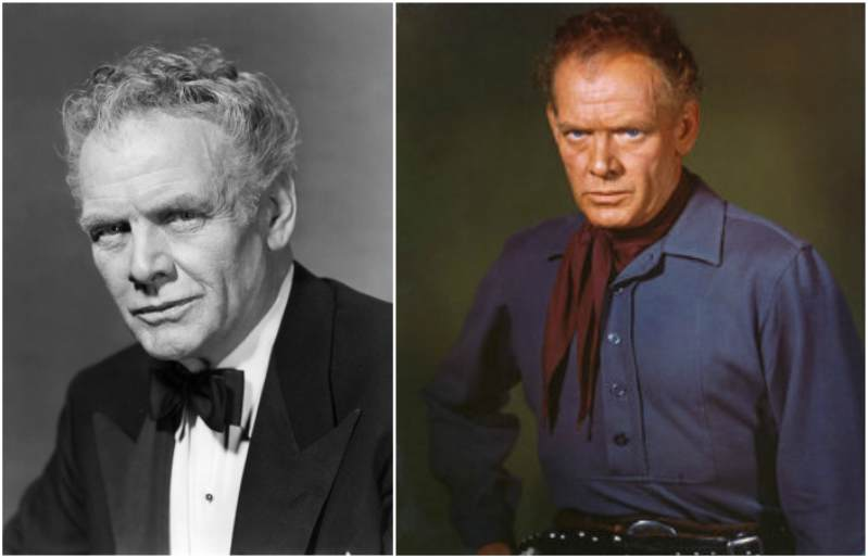 Charles Bickford's eyes and hair color
