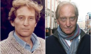 Charles Dance's eyes and hair color