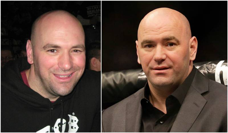 Dana White's eyes and hair color