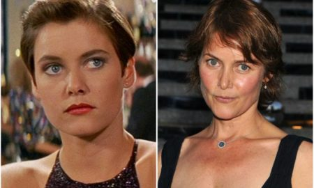 Carey Lowell's eyes and hair color