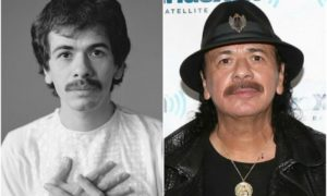Carlos Santana's eyes and hair color