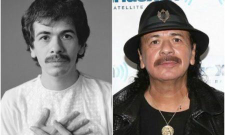 Carlos Santana's eyes and hair color