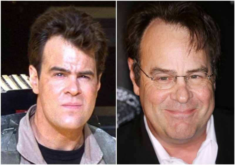 Dan Aykroyd's eyes and hair color