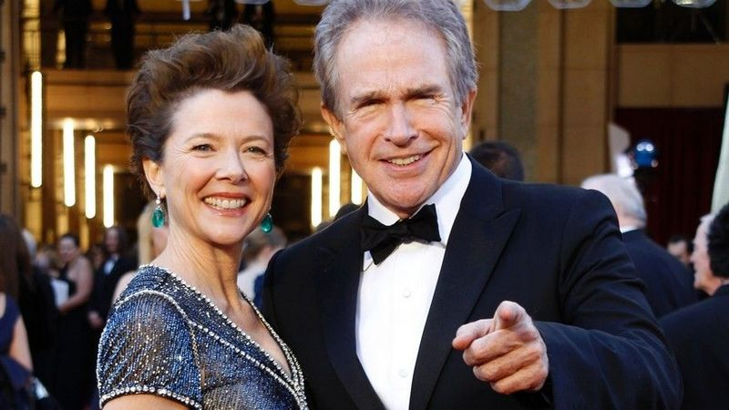 Warren Beatty's family - wife Annette Carol Bening