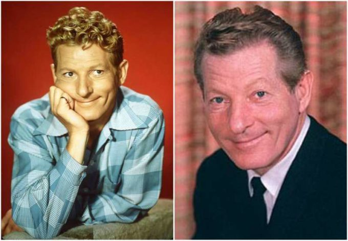 Danny Kaye's eyes and hair color