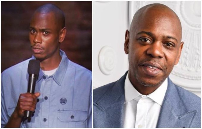 Dave Chappelle's eyes and hair color