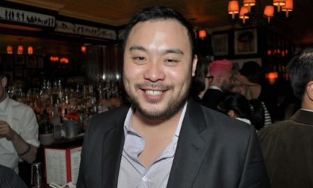 David Chang's eyes and hair color
