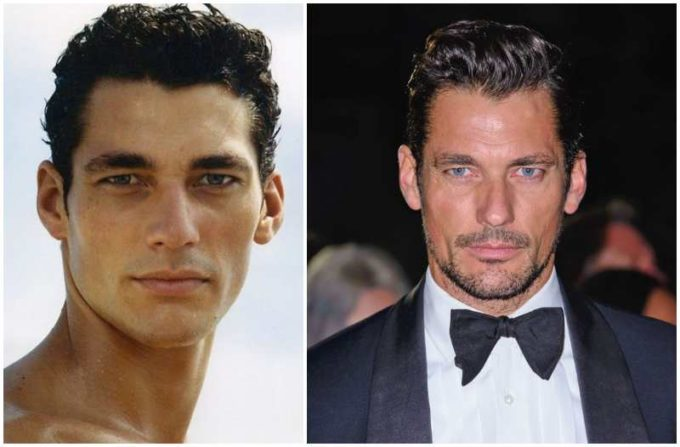 David Gandy's eyes and hair color
