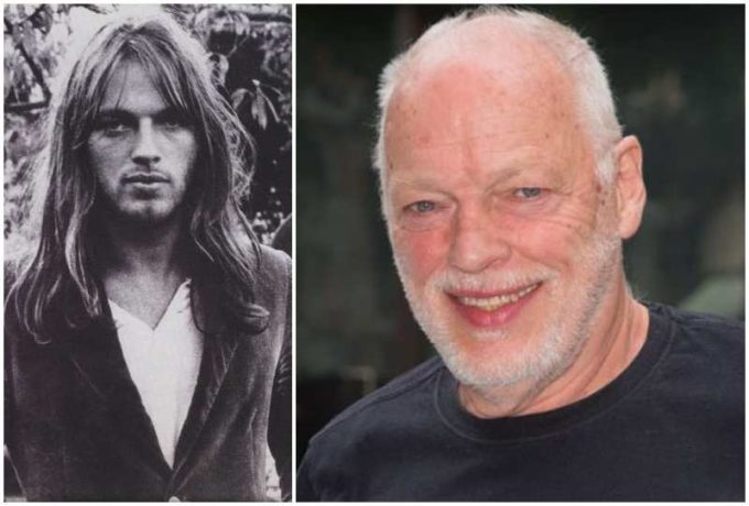 David Gilmour's eyes and hair color