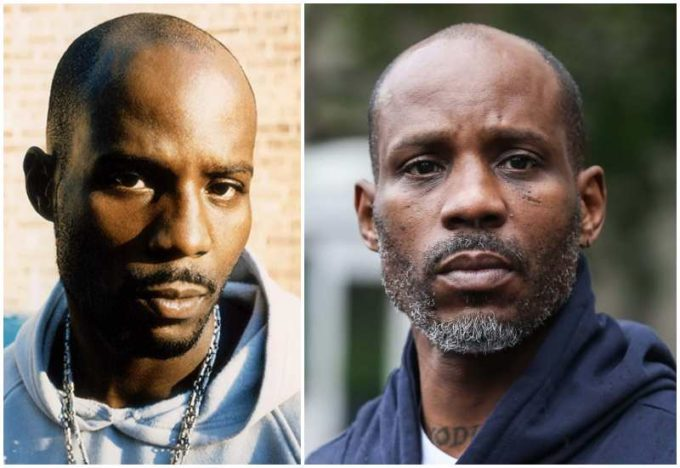 DMX's eyes and hair color