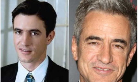 Dermot Mulroney's eyes and hair color
