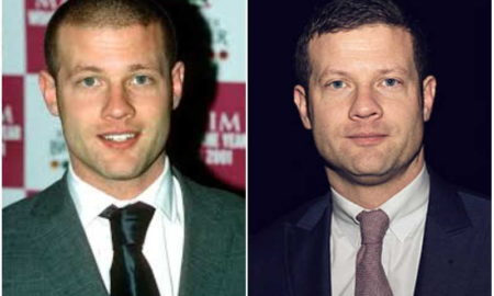 Dermot O'Leary's eyes and hair color