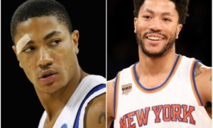 Derrick Rose's eyes and hair color