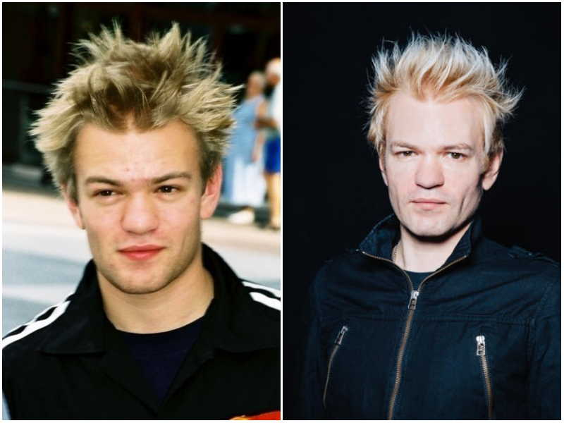 Deryck Whibley's eyes and hair color