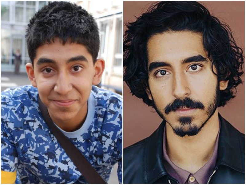 Dev Patel's eyes and hair color