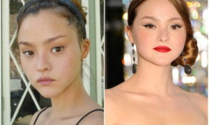 Devon Aoki's eyes and hair color