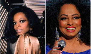Diana Ross's eyes and hair color