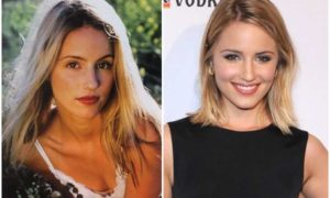Dianna Agron's eyes and hair color