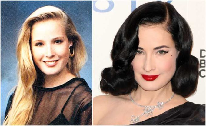 Dita Von Teese's eyes and hair color