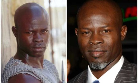 Djimon Hounsou's eyes and hair color