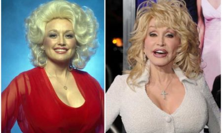 Dolly Parton's eyes and hair color