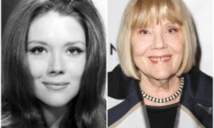 Diana Rigg's eyes and hair color