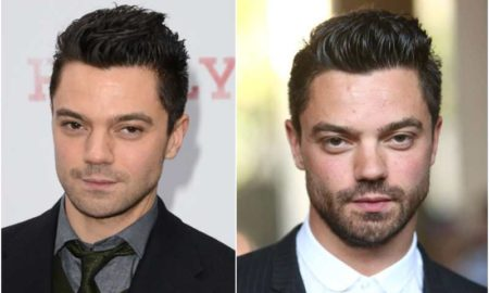 Dominic Cooper's eyes and hair color