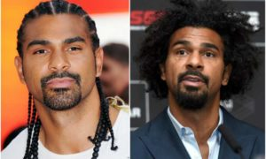 David Haye's eyes and hair color