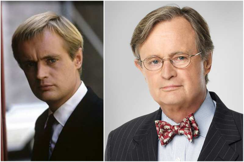 David McCallum's eyes and hair color