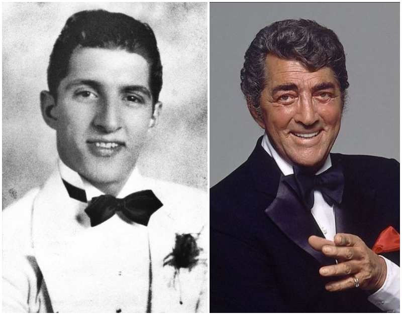 Dean Martin's eyes and hair color