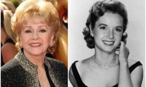 Debbie Reynolds' eyes and hair color