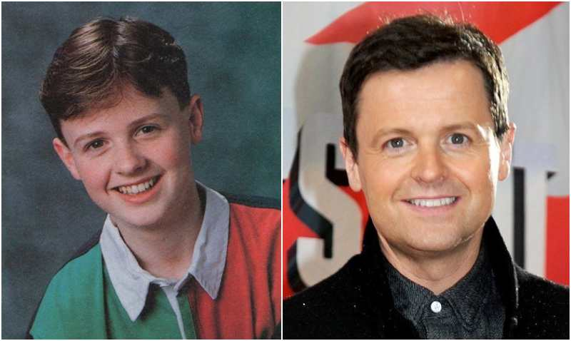 Declan Donnelly's eyes and hair color
