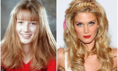 Delta Goodrem's eyes and hair color