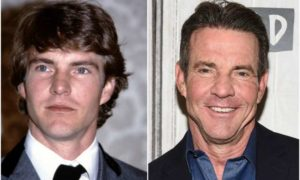 Dennis Quaid's eyes and hair color