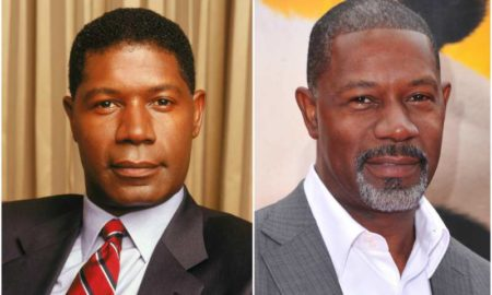 Dennis Haysbert's eyes and hair color