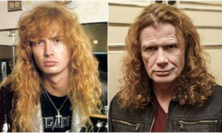 Dave Mustaine's eyes and hair color