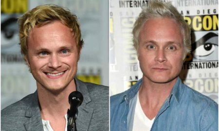 David Anders' eyes color - blue and hair color - blonde
