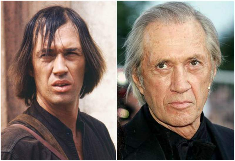 David Carradine's eyes and hair color