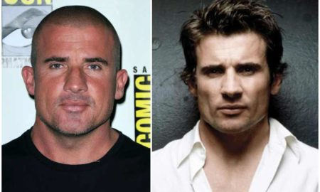 Dominic Purcell's eyes and hair color