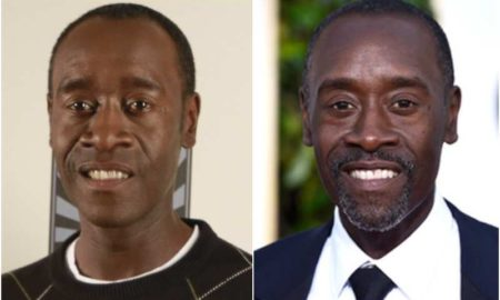 Don Cheadle's eyes and hair color