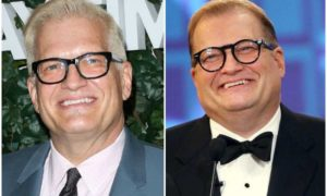 Drew Carey's eyes and hair color