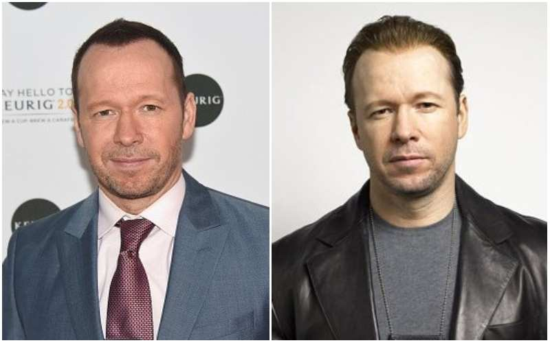 Donnie Wahlberg's eyes and hair color