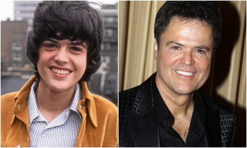 Donny Osmond's eyes and hair color