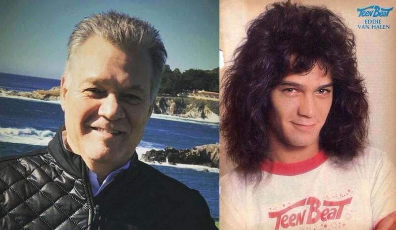 Eddie van Halen's eyes and hair color