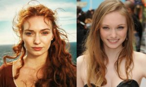 Eleanor Tomlinson's eyes and hair color